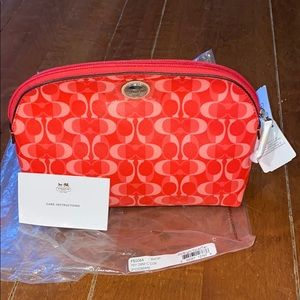 Coach cosmetic bag - Coral